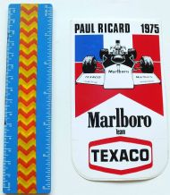 MARLBORO Paul Ricard 1975 (French GP)   sticker  unused
